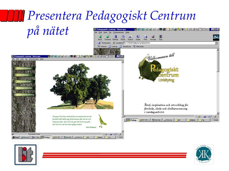 Presentera Pedagogiskt Centrum på nätet