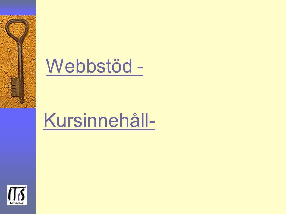 Webbstöd - Kursinnehåll-