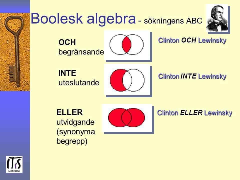 Boolesk algebra - sökningens ABC