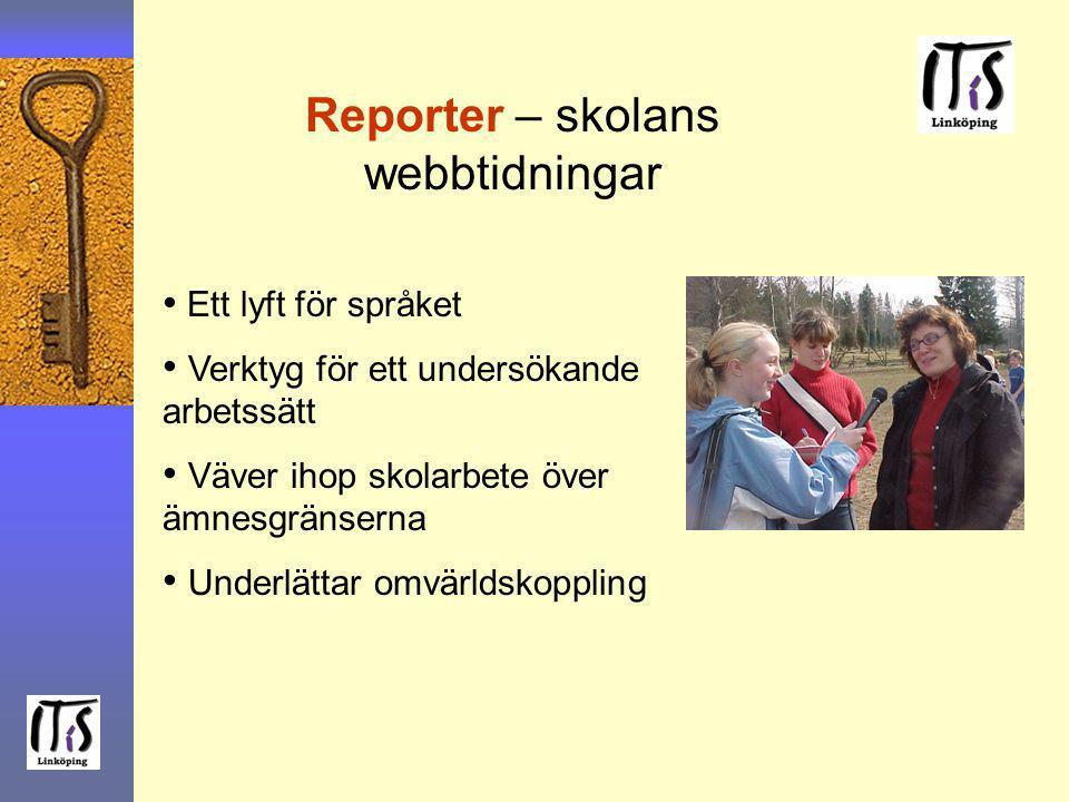 Reporter – skolans webbtidningar