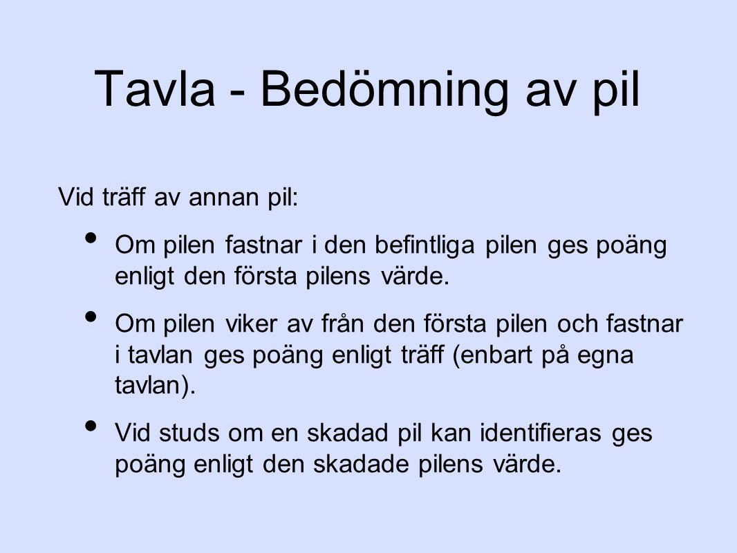 Tavla - Bedömning av pil