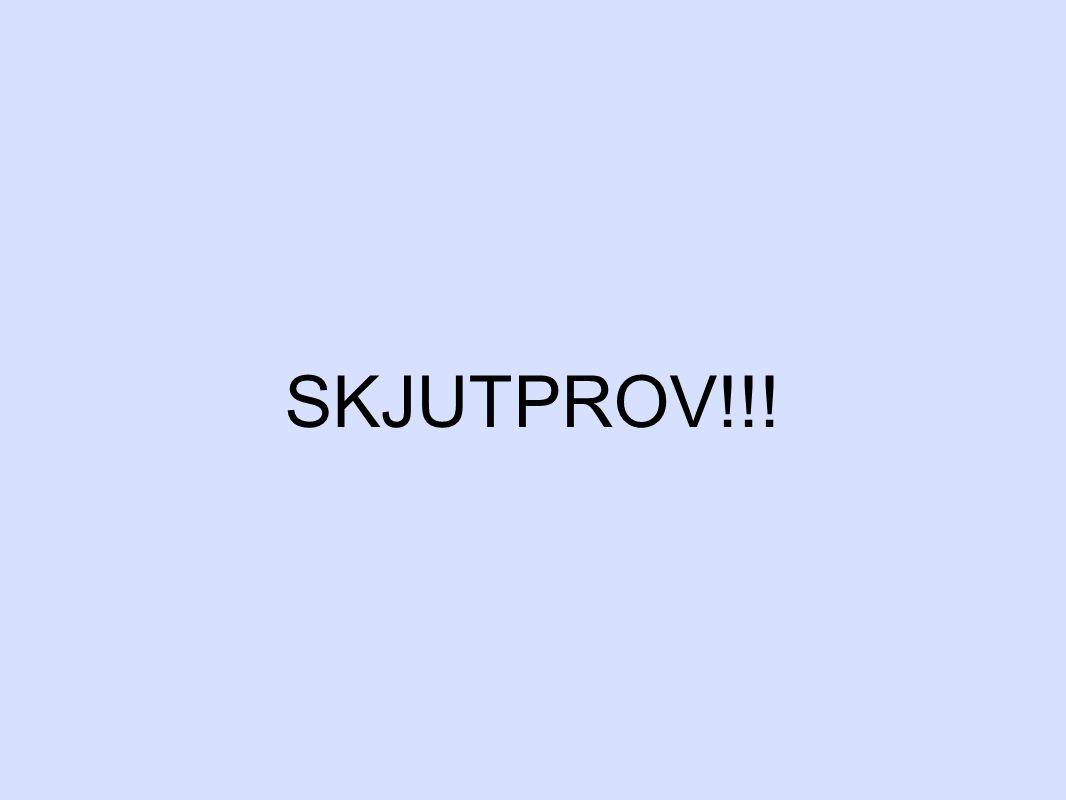 SKJUTPROV!!!