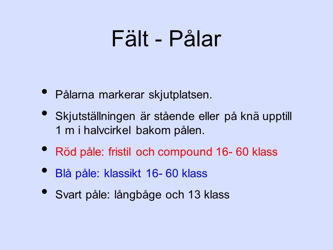 Fält - Pålar Pålarna markerar skjutplatsen.