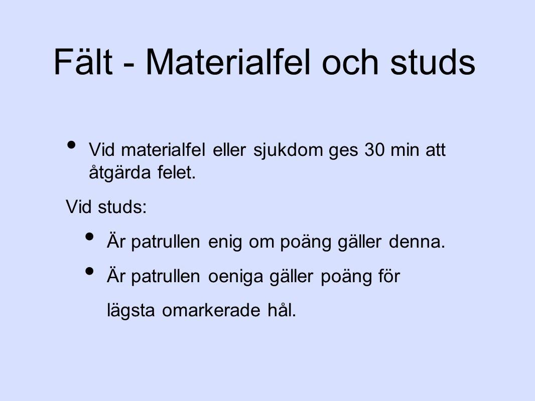 Fält - Materialfel och studs