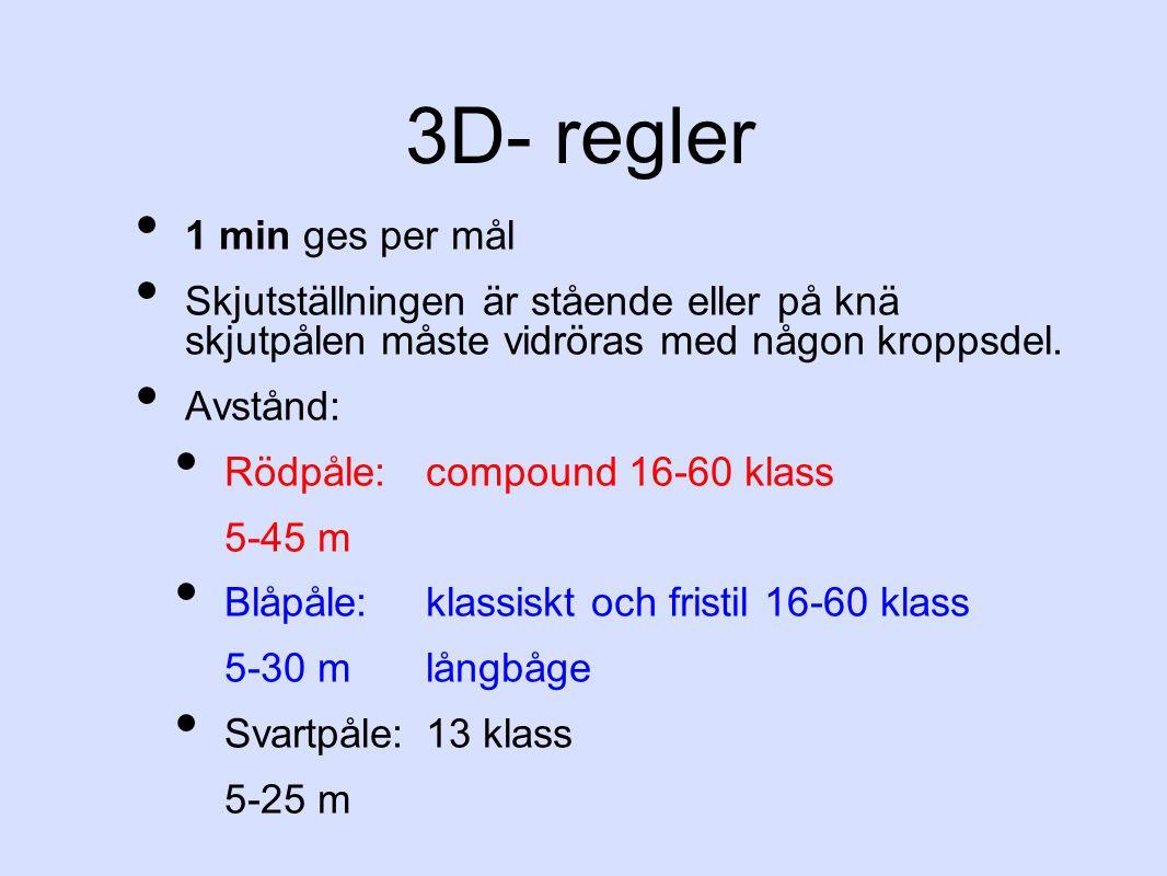 3D- regler 1 min ges per mål