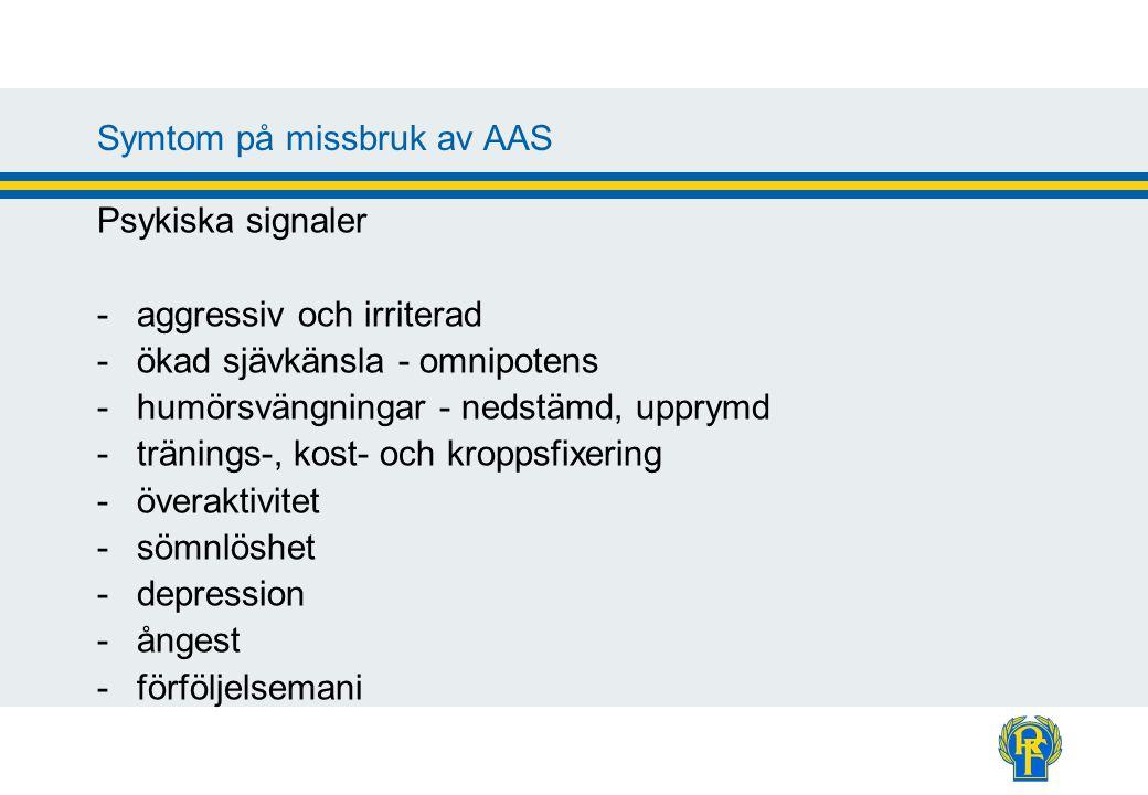 Symtom på missbruk av AAS