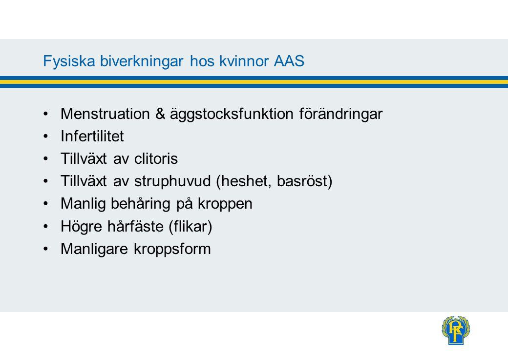 Fysiska biverkningar hos kvinnor AAS