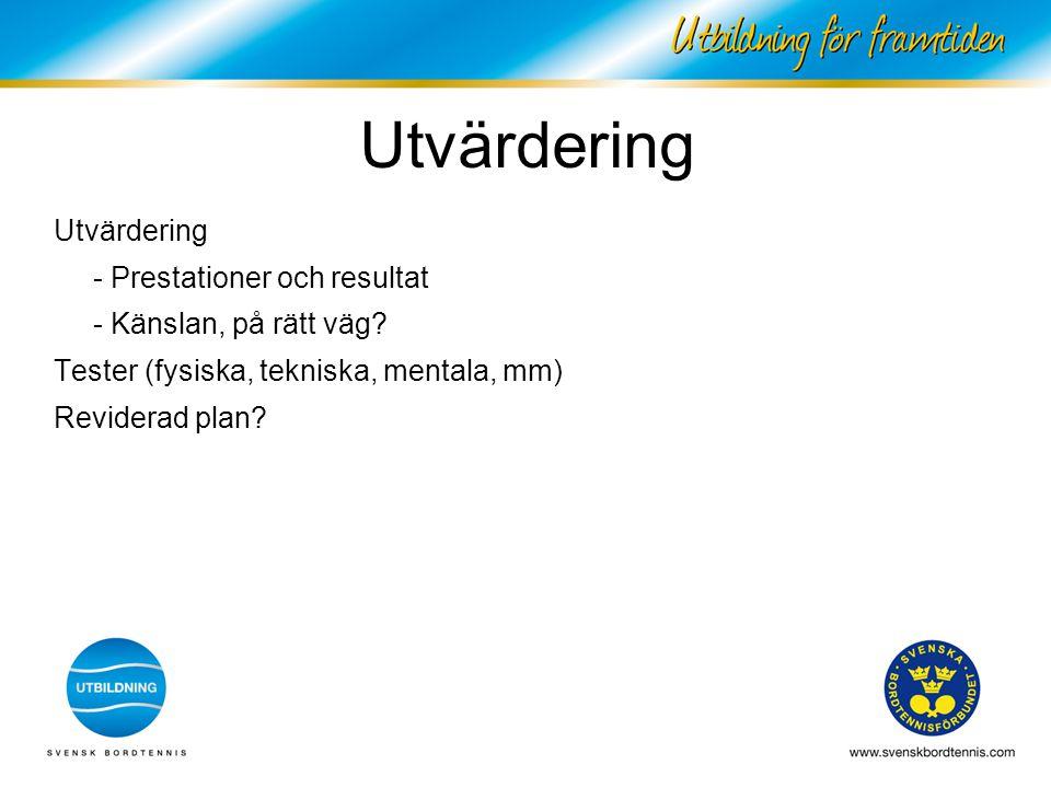 Utvärdering Utvärdering - Prestationer och resultat