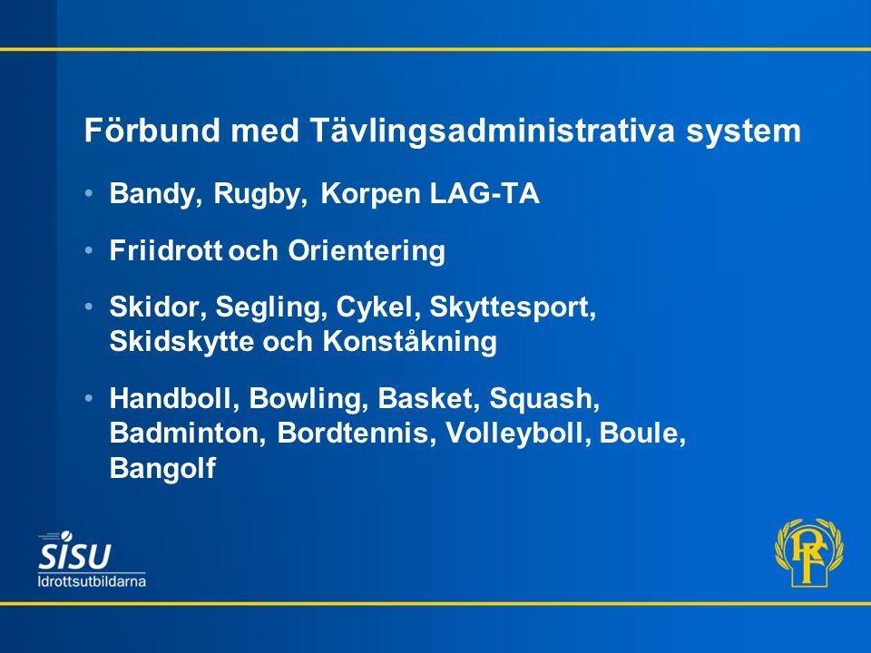 Förbund med Tävlingsadministrativa system