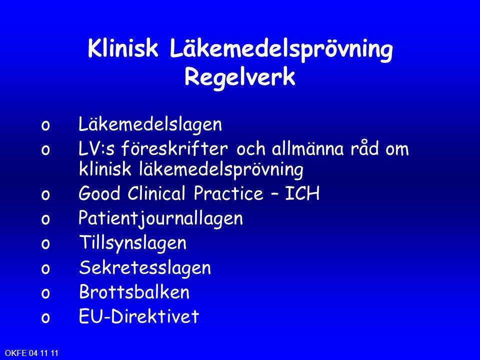 Klinisk Läkemedelsprövning Regelverk