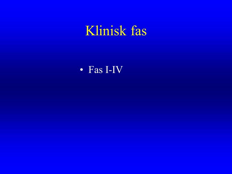 Klinisk fas Fas I-IV