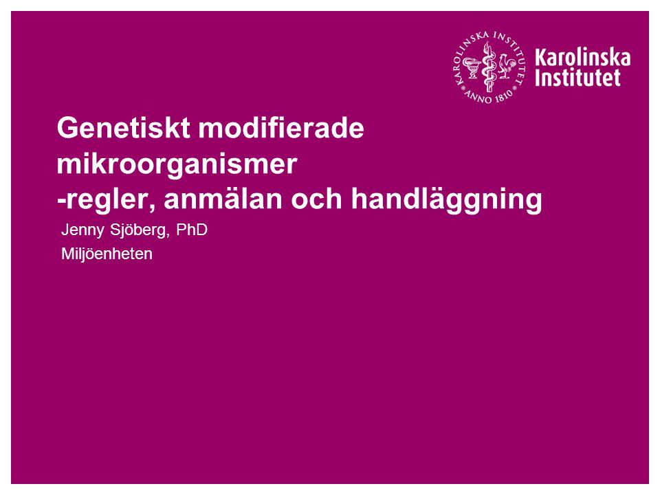 Jenny Sjöberg, PhD Miljöenheten