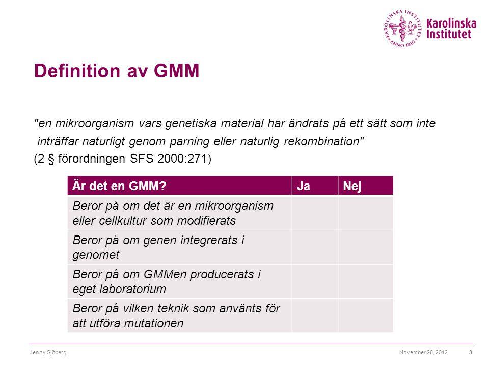 Definition av GMM
