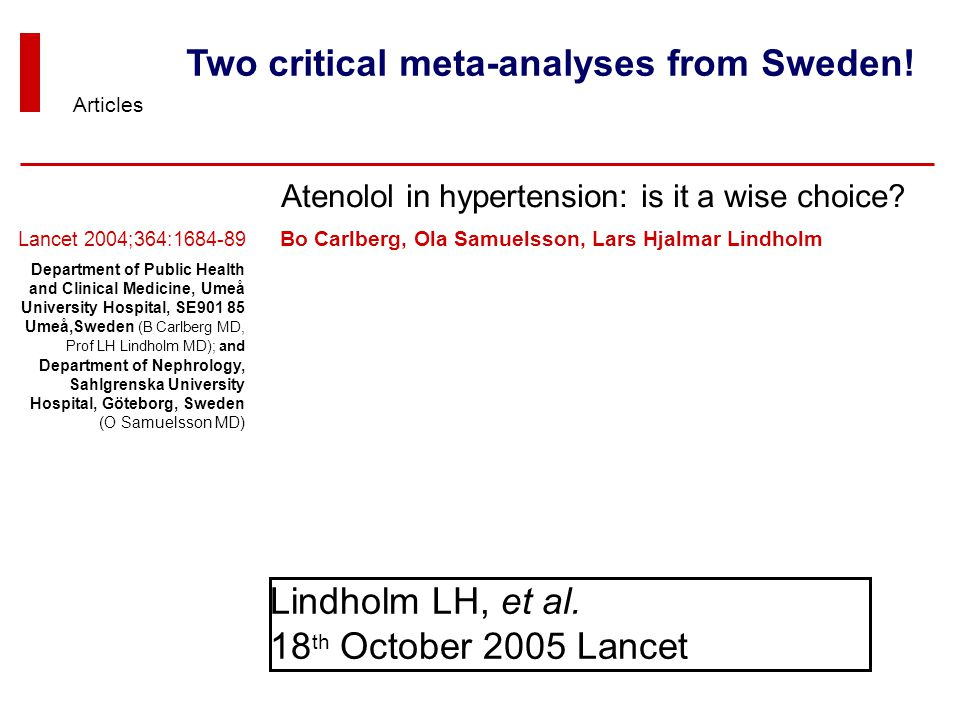 Two critical meta-analyses from Sweden!