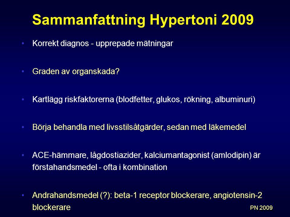 Sammanfattning Hypertoni 2009