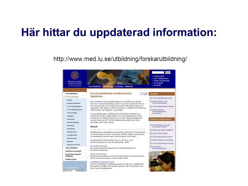 Här hittar du uppdaterad information:
