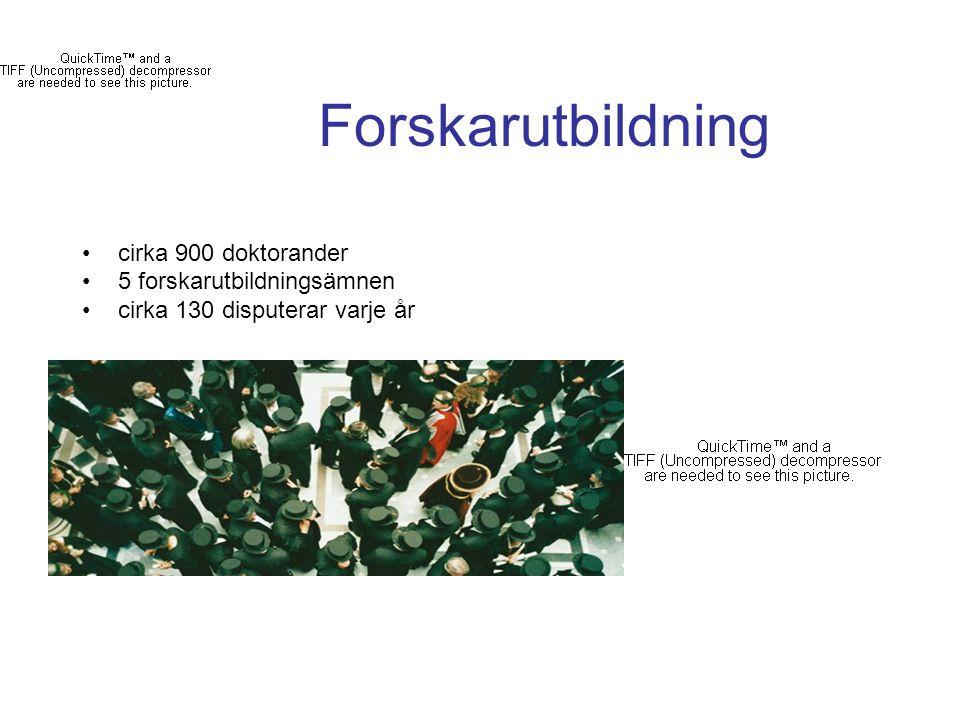 Forskarutbildning cirka 900 doktorander 5 forskarutbildningsämnen