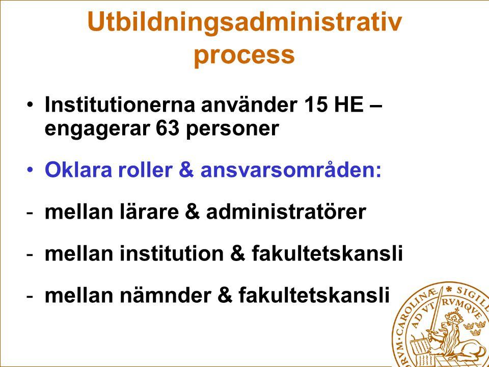 Utbildningsadministrativ process