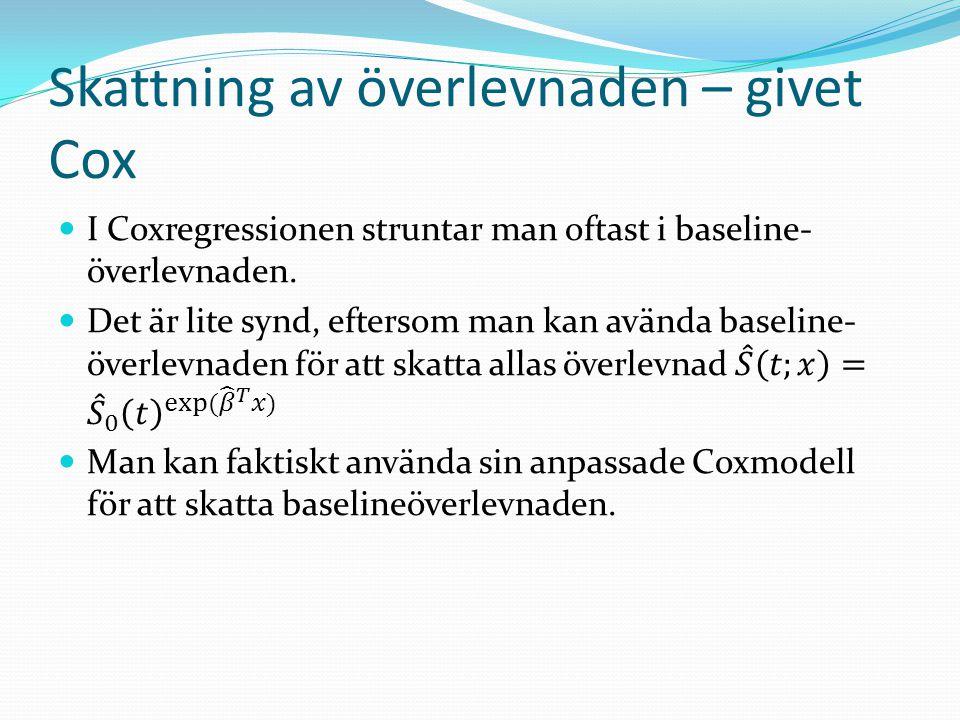 Skattning av överlevnaden – givet Cox