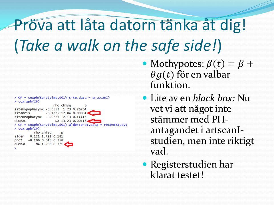 Pröva att låta datorn tänka åt dig! (Take a walk on the safe side!)