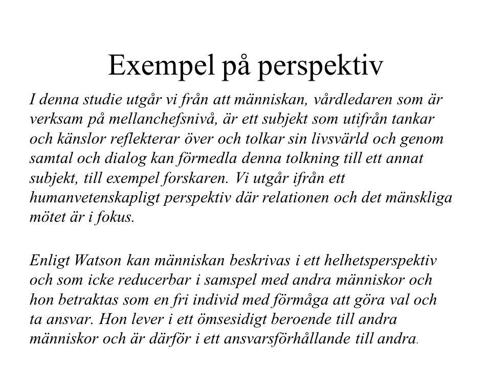 Exempel på perspektiv