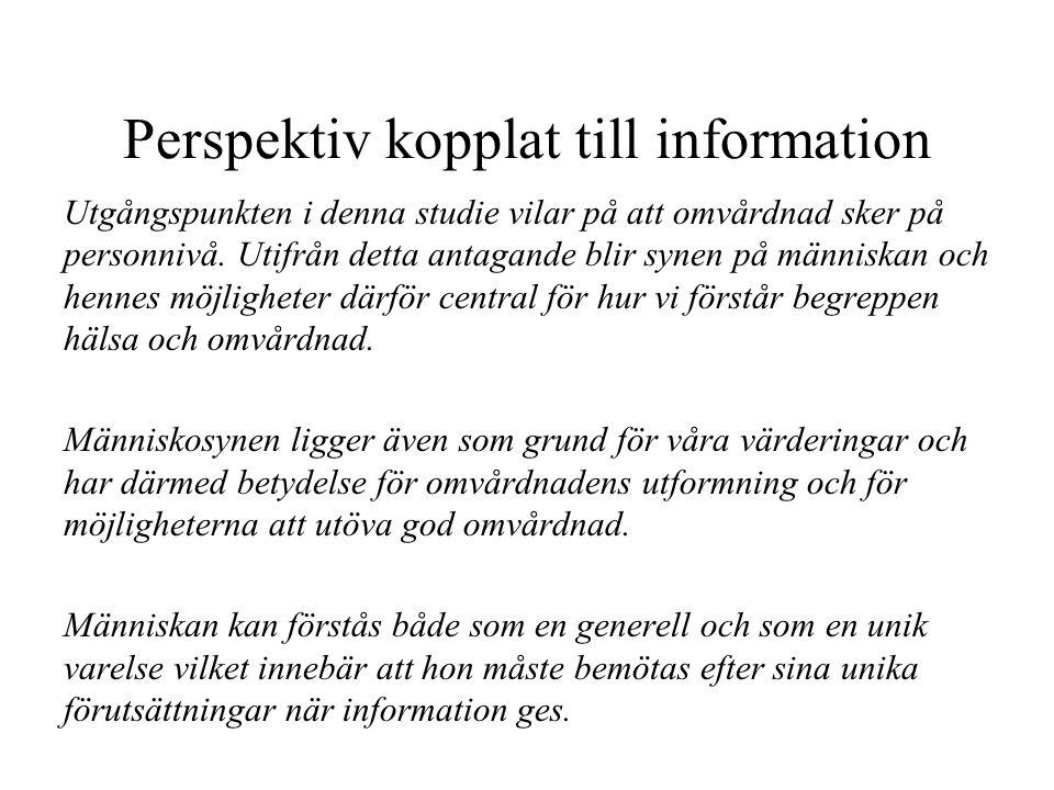 Perspektiv kopplat till information