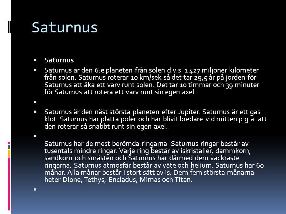 Saturnus Saturnus.