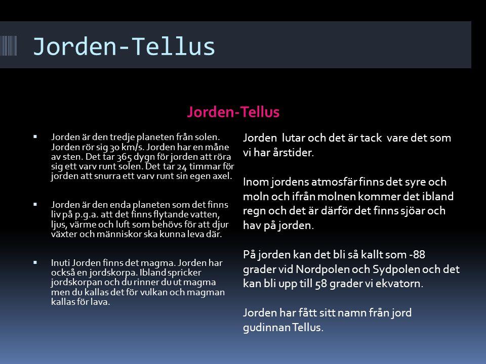 Jorden-Tellus Jorden-Tellus