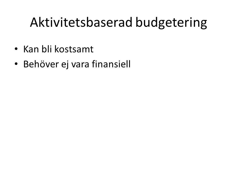 Aktivitetsbaserad budgetering