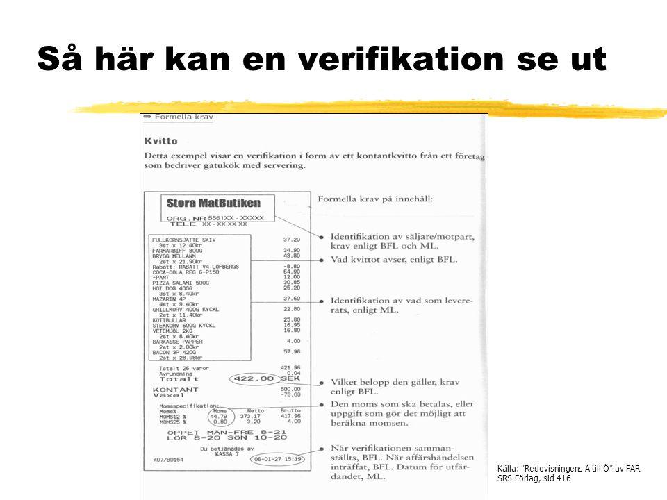 Så här kan en verifikation se ut