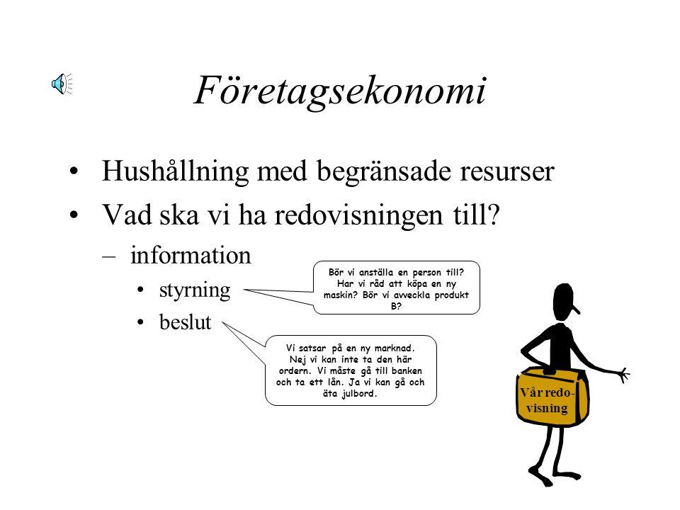 Företagsekonomi Hushållning med begränsade resurser