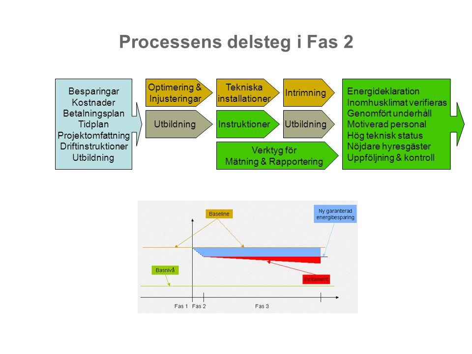 Processens delsteg i Fas 2