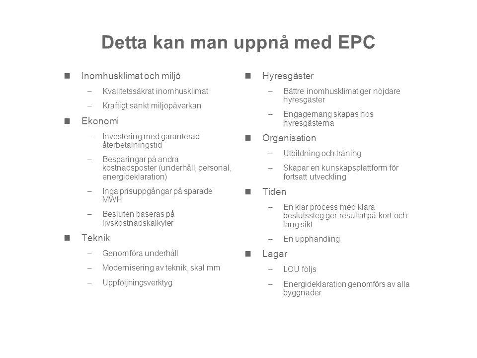 Detta kan man uppnå med EPC