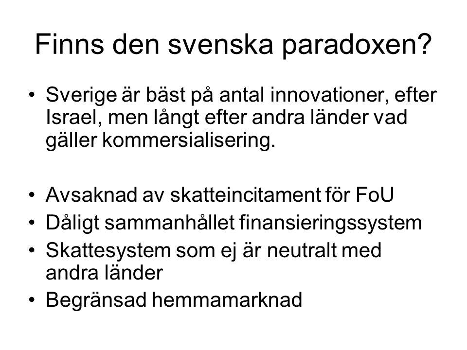 Finns den svenska paradoxen