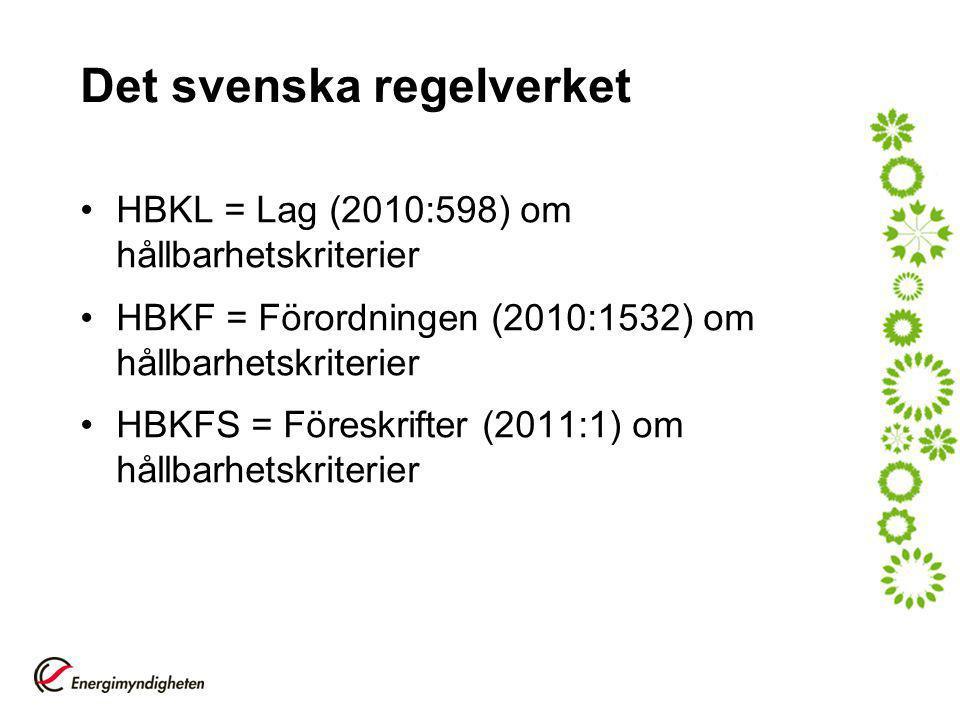Det svenska regelverket