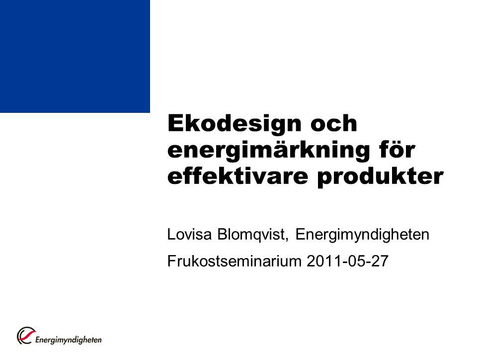 Ekodesign och energimärkning för effektivare produkter