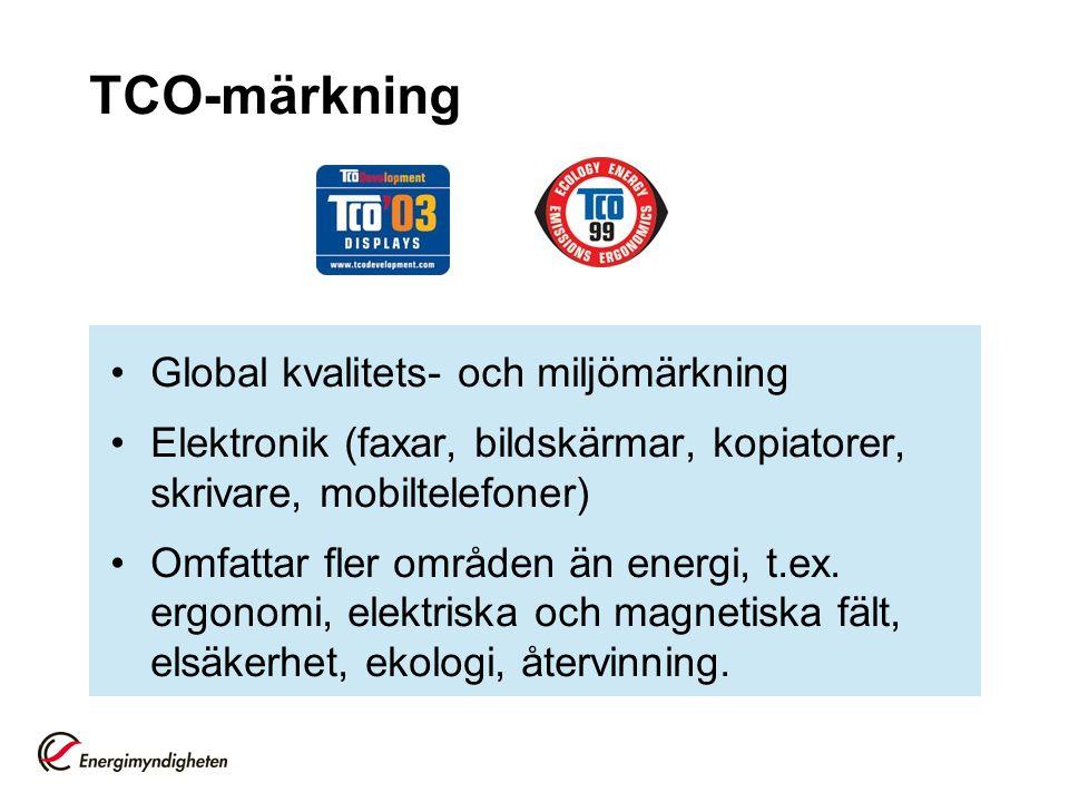 TCO-märkning Global kvalitets- och miljömärkning