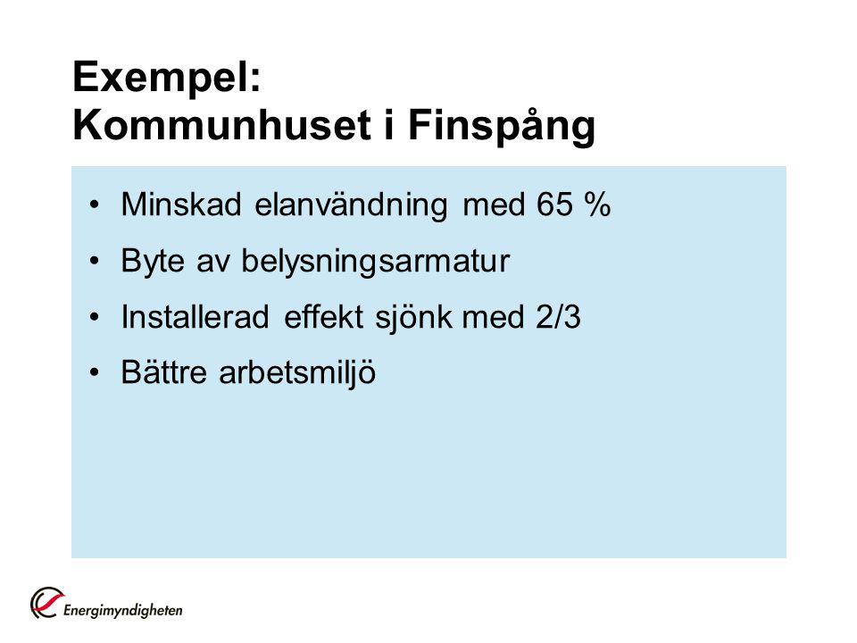 Exempel: Kommunhuset i Finspång