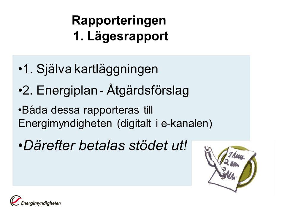 Rapporteringen 1. Lägesrapport