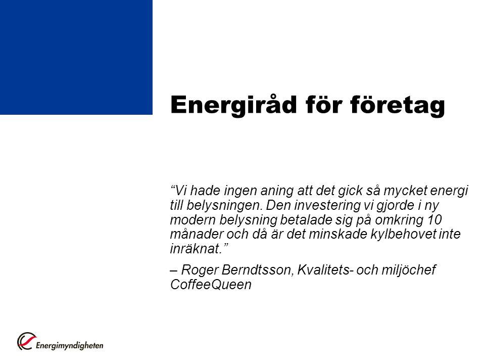 Energiråd för företag