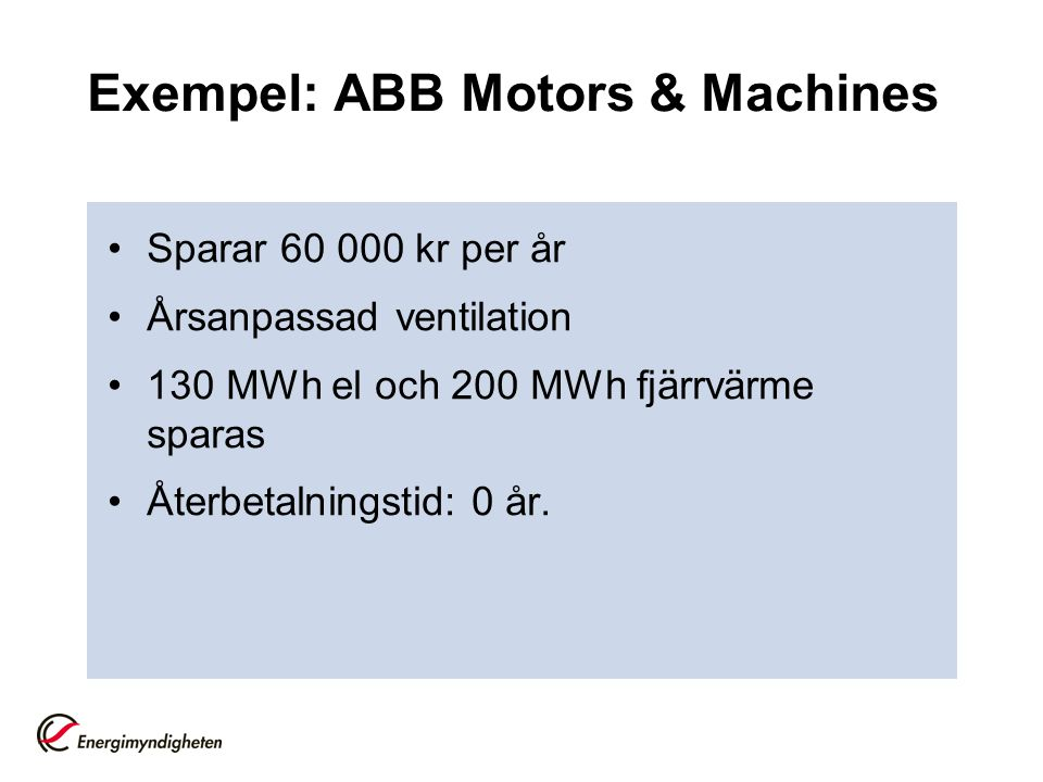 Exempel: ABB Motors & Machines