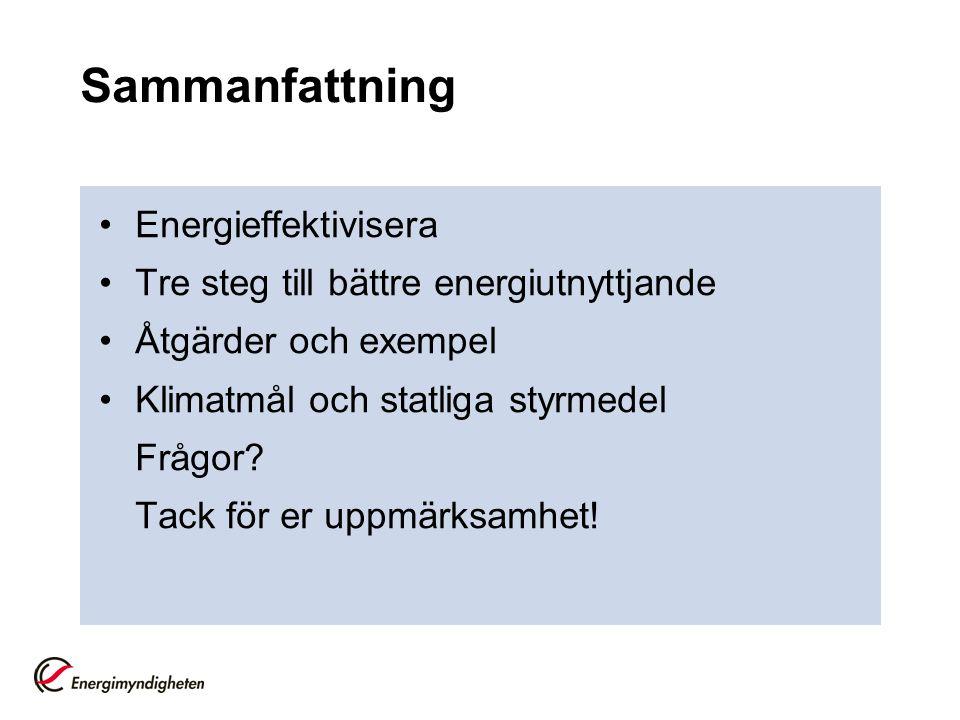 Sammanfattning Energieffektivisera