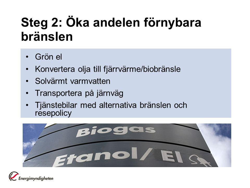 Steg 2: Öka andelen förnybara bränslen
