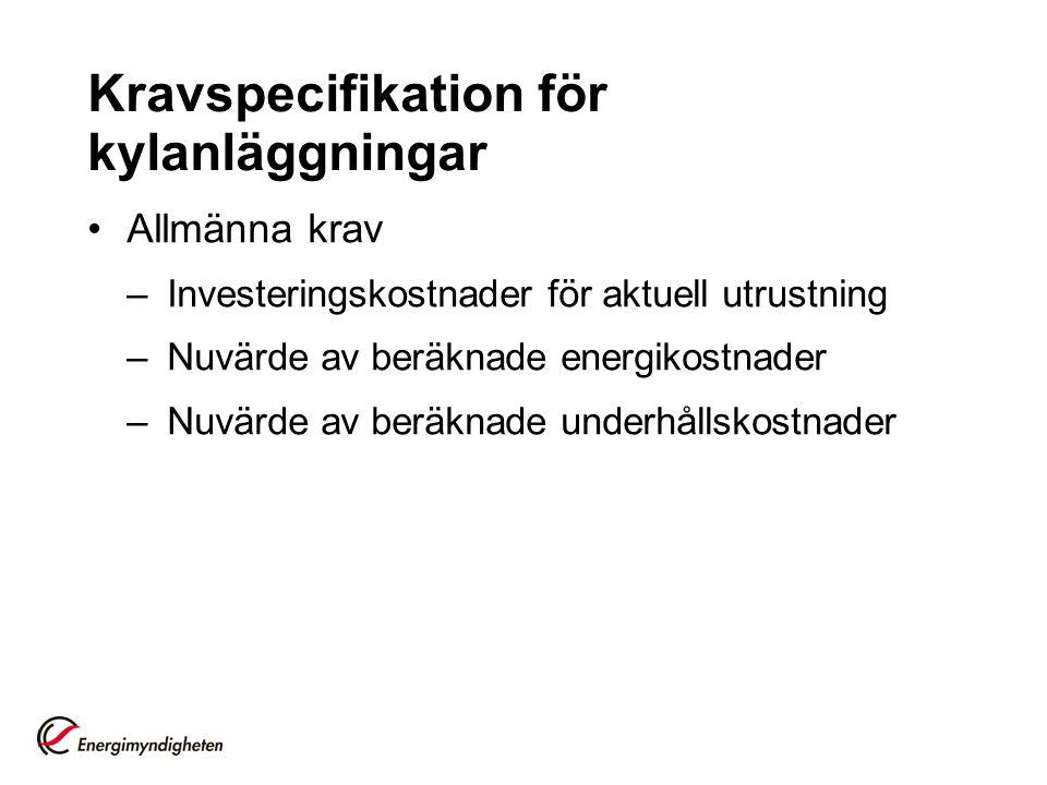 Kravspecifikation för kylanläggningar