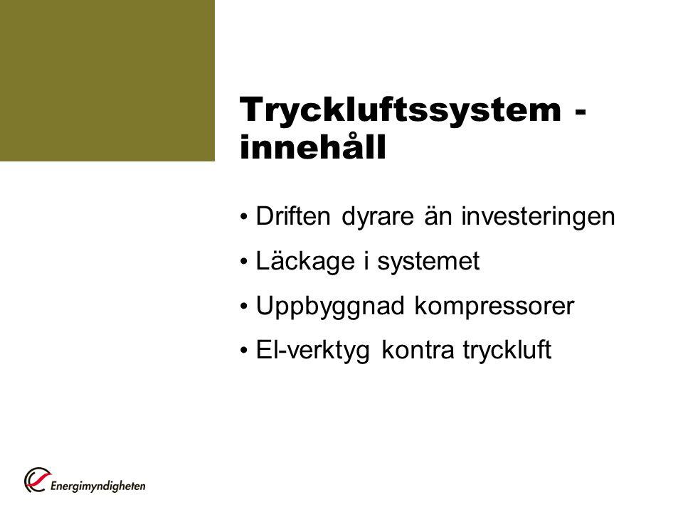 Tryckluftssystem - innehåll