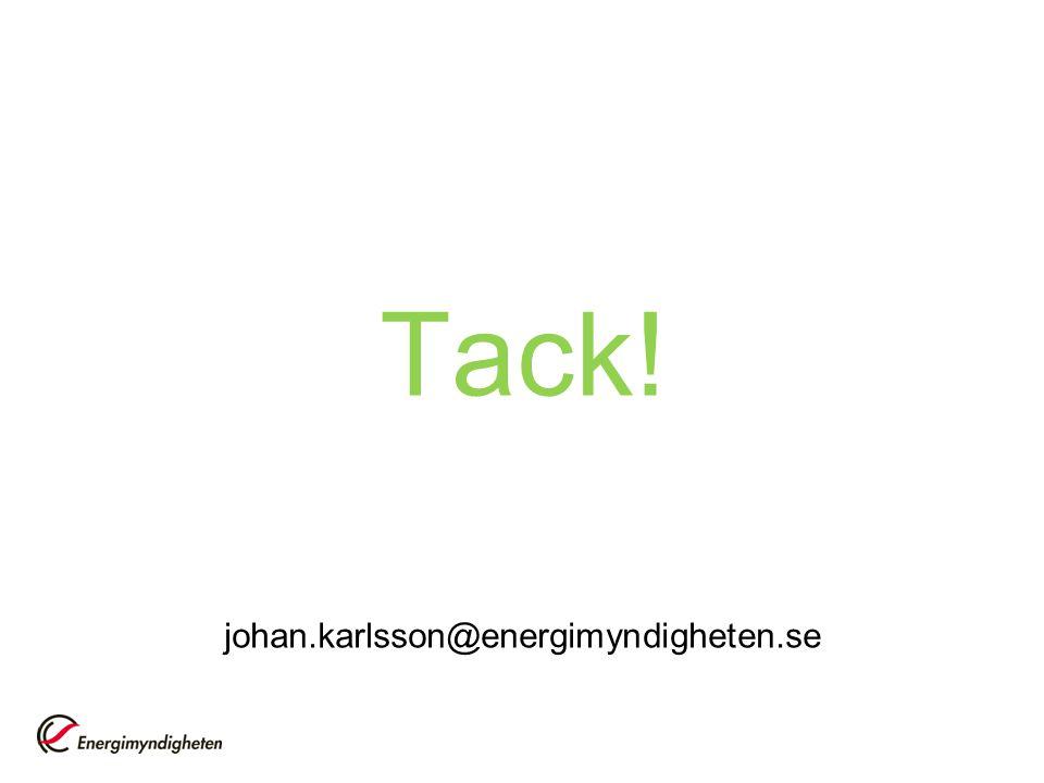 Tack! johan.karlsson@energimyndigheten.se