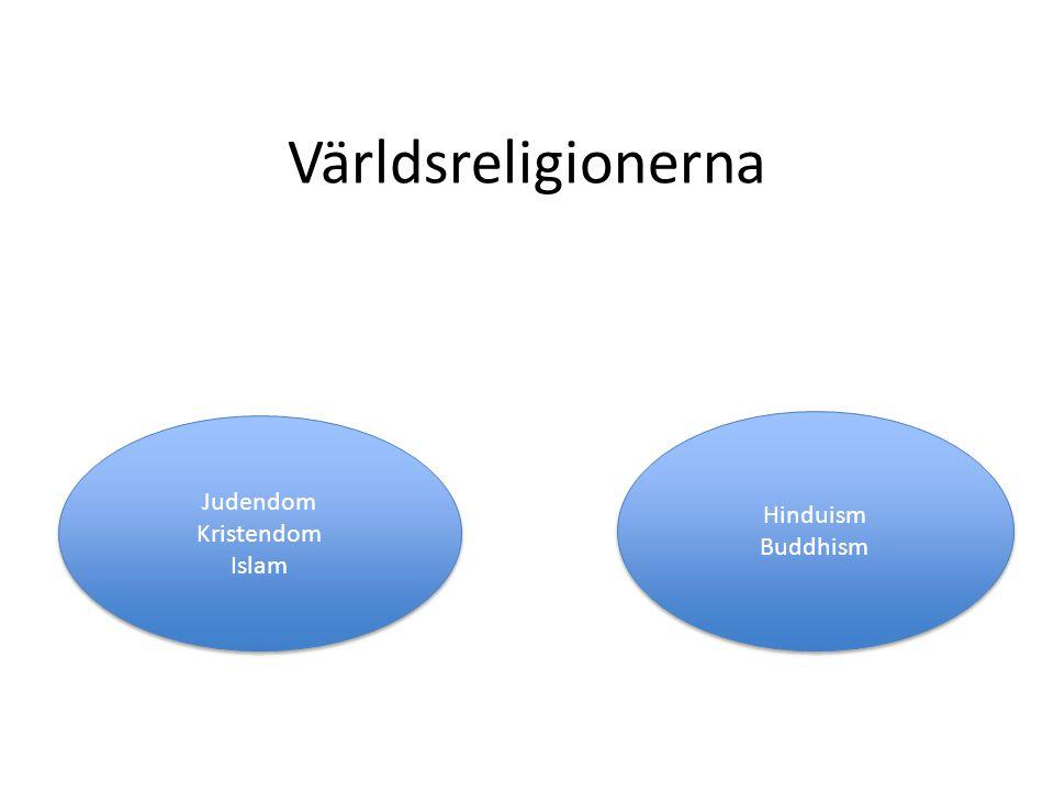 Världsreligionerna Judendom Kristendom Islam Hinduism Buddhism