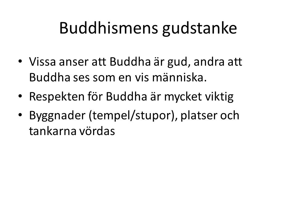 Buddhismens gudstanke