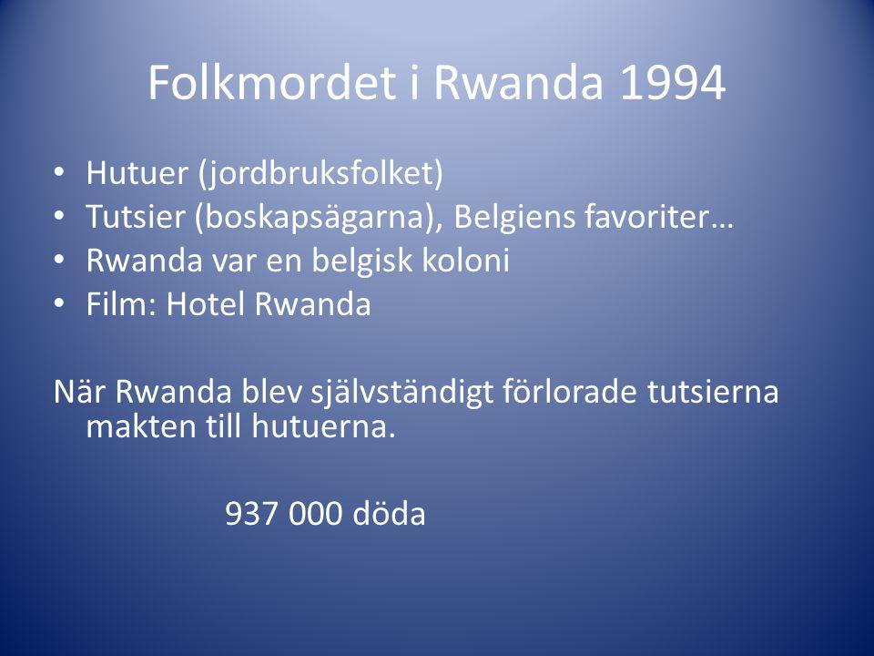 Folkmordet i Rwanda 1994 Hutuer (jordbruksfolket)