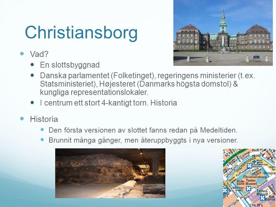 Christiansborg Vad Historia En slottsbyggnad